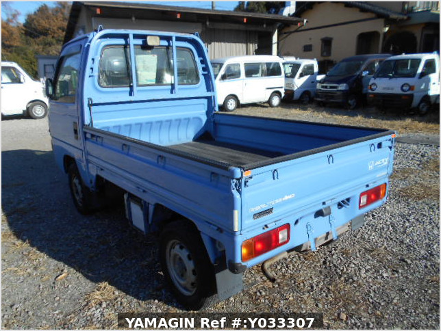 It is a picture of the blue honda acty truck in 1996,Sub Photo 2 Stock No.Y033307