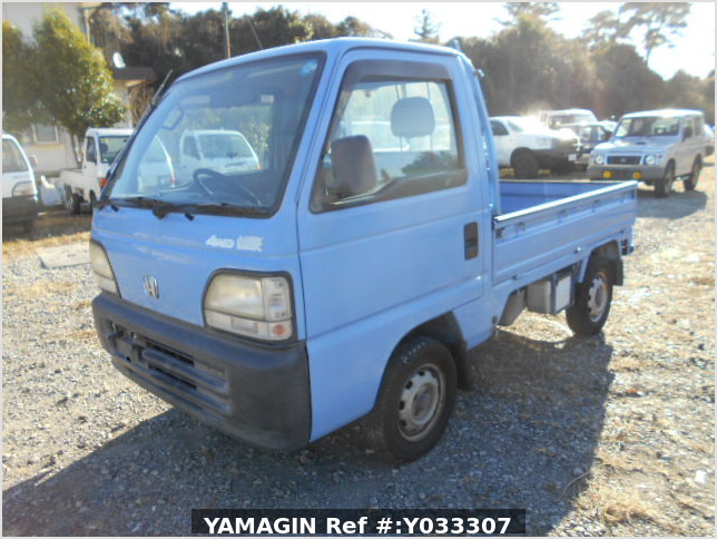 It is a picture of the blue honda acty truck in 1996,Sub Photo 1 Stock No.Y033307