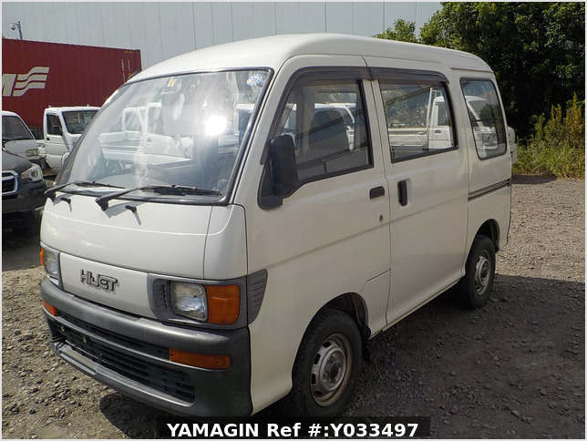 It is a picture of the white daihatsu hijet passenger van in 1995,Sub Photo 1 Stock No.Y033497
