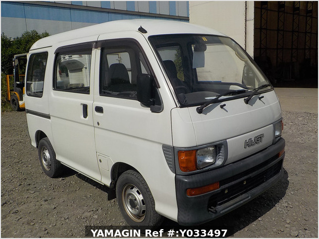 It is a picture of the white daihatsu hijet passenger van in 1995,Sub Photo 0 Stock No.Y033497