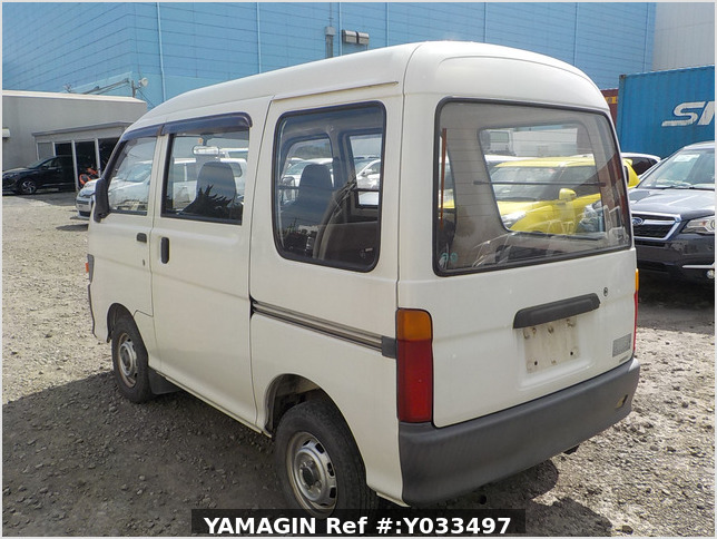 It is a picture of the white daihatsu hijet passenger van in 1995,Sub Photo 3 Stock No.Y033497