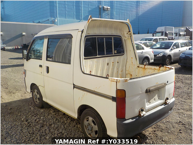 It is a picture of the white daihatsu hijet deck van in 1997,Sub Photo 3 Stock No.Y033519