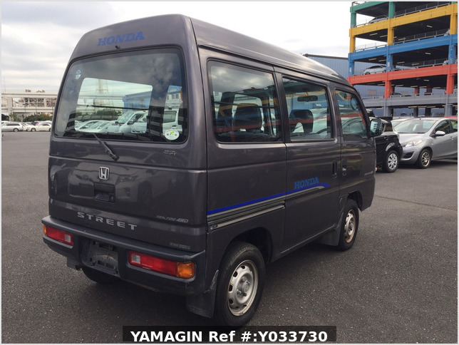 It is a picture of the gray m honda acty passenger van in 1996,Sub Photo 3 Stock No.Y033730