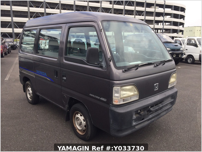 It is a picture of the gray m honda acty passenger van in 1996,Sub Photo 0 Stock No.Y033730