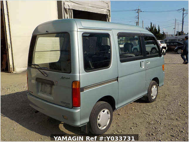 It is a picture of the green daihatsu atrai passenger van in 1996,Sub Photo 2 Stock No.Y033731