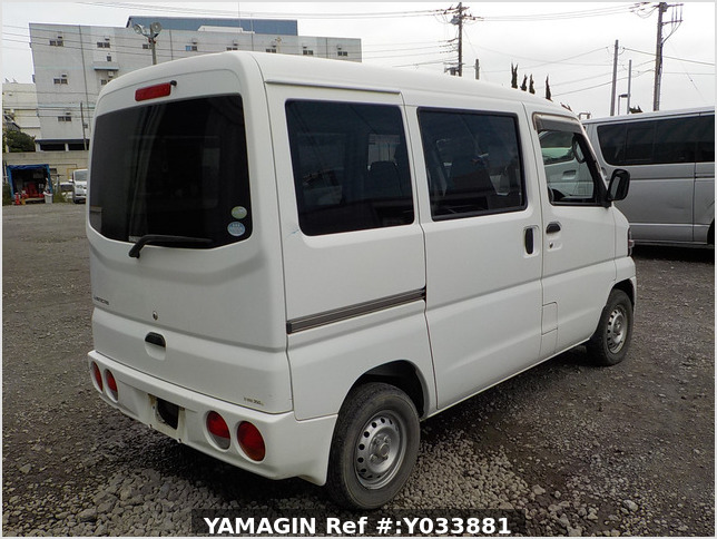 It is a picture of the white mitsubishi minicab passenger van in 2009,Sub Photo 2 Stock No.Y033881