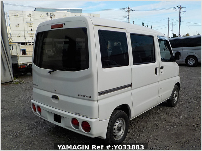 It is a picture of the white mitsubishi minicab passenger van in 2003,Sub Photo 2 Stock No.Y033883