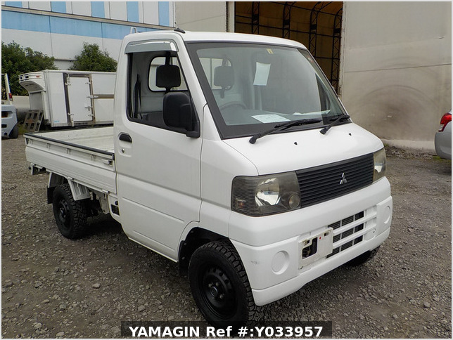 It is a picture of the white mitsubishi minicab truck in 2001,Sub Photo 0 Stock No.Y033957