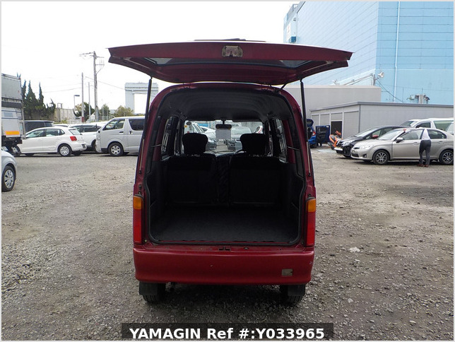 It is a picture of the red daihatsu atrai passenger van in 1996,Sub Photo 5 Stock No.Y033965