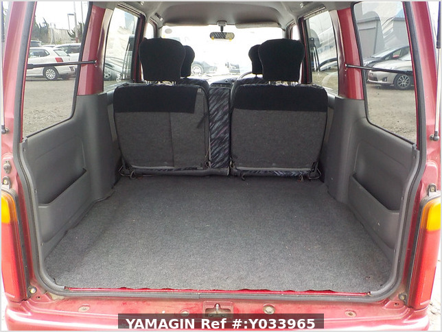 It is a picture of the red daihatsu atrai passenger van in 1996,Sub Photo 4 Stock No.Y033965