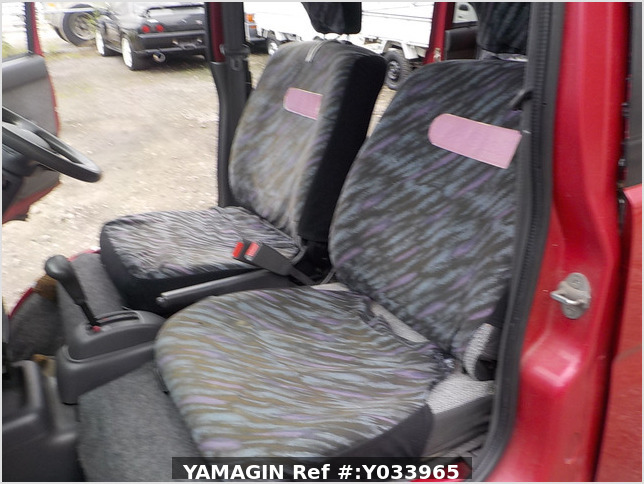 It is a picture of the red daihatsu atrai passenger van in 1996,Sub Photo 14 Stock No.Y033965
