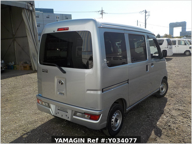 It is a picture of the silver toyota pixis passenger van in 2019,Sub Photo 2 Stock No.Y034077