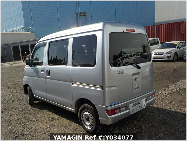 It is a picture of the silver toyota pixis passenger van in 2019,Sub Photo 3 Stock No.Y034077
