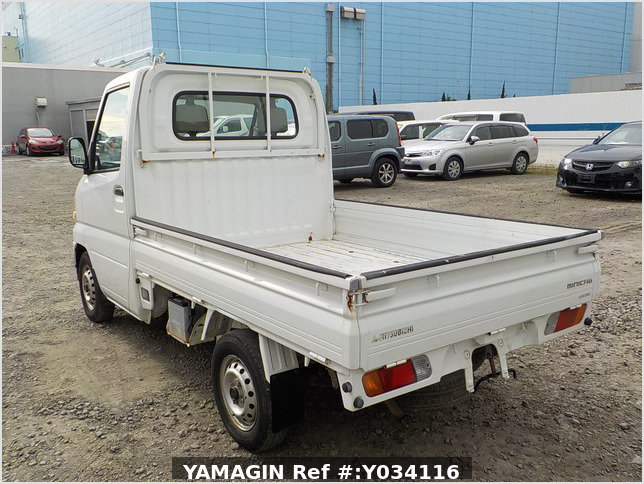 It is a picture of the white mitsubishi minicab truck in 2001,Sub Photo 13 Stock No.Y034116