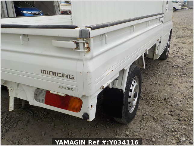 It is a picture of the white mitsubishi minicab truck in 2001,Sub Photo 25 Stock No.Y034116