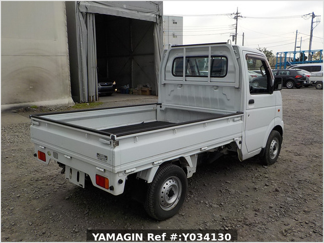 It is a picture of the white suzuki carry truck in 2009,Sub Photo 2 Stock No.Y034130