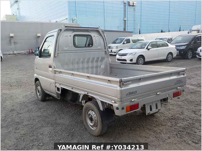 It is a picture of the silver suzuki carry truck in 2002,Sub Photo 3 Stock No.Y034213