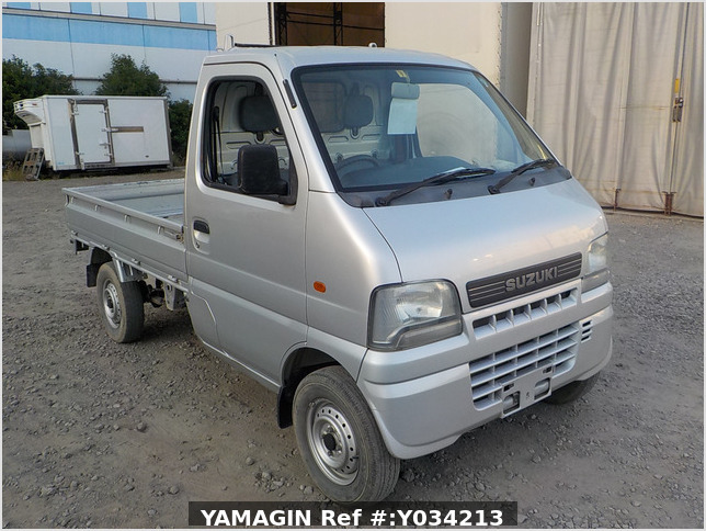 It is a picture of the silver suzuki carry truck in 2002,Sub Photo 0 Stock No.Y034213