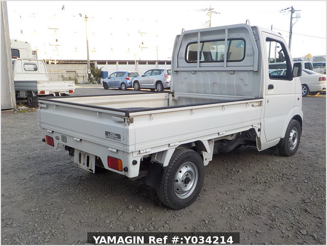 It is a picture of the white suzuki carry truck in 2002,Sub Photo 2 Stock No.Y034214