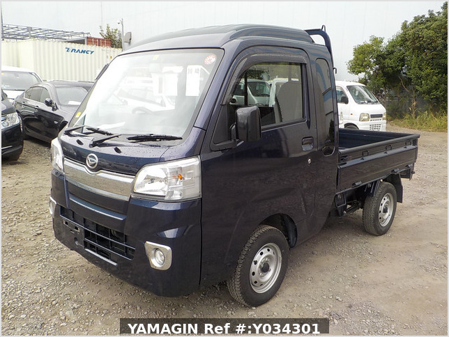 It is a picture of the dark blue  daihatsu hijet jumbo in 2017,Sub Photo 1 Stock No.Y034301