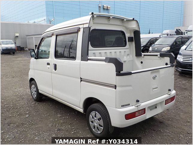 It is a picture of the white daihatsu hijet deck van in 2011,Sub Photo 3 Stock No.Y034314