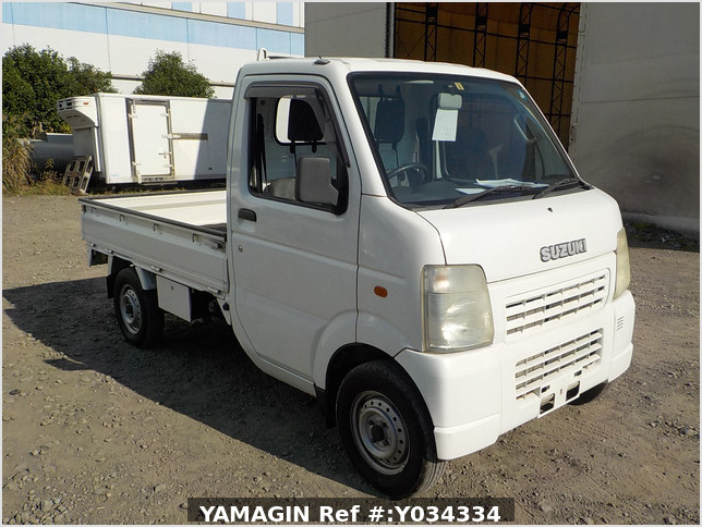 It is a picture of the white suzuki carry truck in 2002,Sub Photo 0 Stock No.Y034334