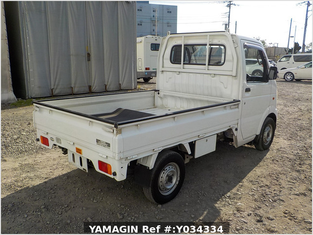 It is a picture of the white suzuki carry truck in 2002,Sub Photo 2 Stock No.Y034334