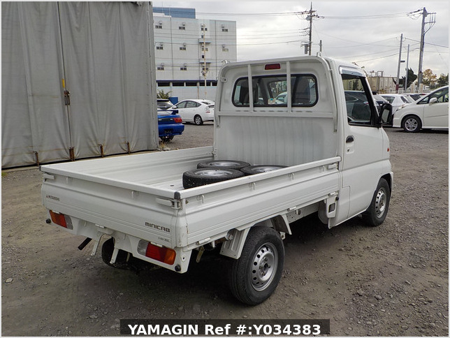 It is a picture of the white mitsubishi minicab truck in 1999,Sub Photo 2 Stock No.Y034383