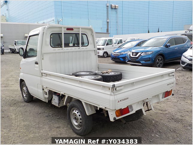 It is a picture of the white mitsubishi minicab truck in 1999,Sub Photo 3 Stock No.Y034383