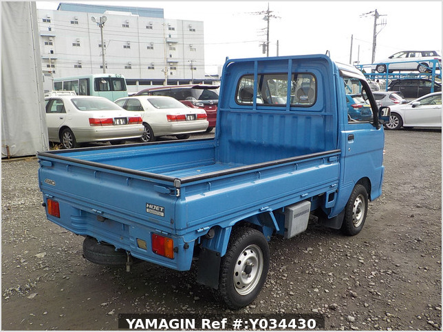 It is a picture of the blue daihatsu hijet truck in 2004,Sub Photo 2 Stock No.Y034430