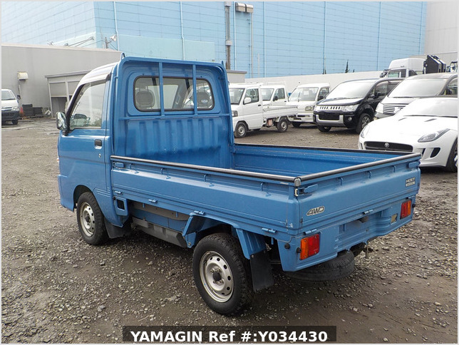 It is a picture of the blue daihatsu hijet truck in 2004,Sub Photo 3 Stock No.Y034430