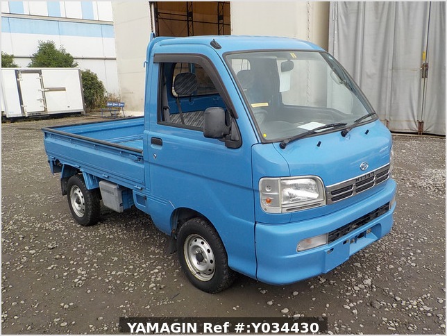 It is a picture of the blue daihatsu hijet truck in 2004,Sub Photo 0 Stock No.Y034430