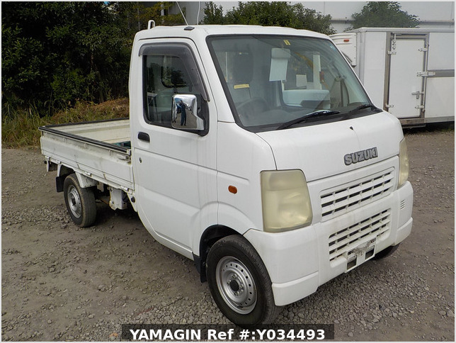 It is a picture of the white suzuki carry  truck in 2002,Sub Photo 0 Stock No.Y034493