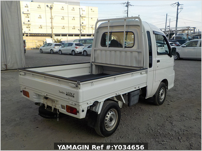 It is a picture of the white daihatsu hijet jumbo in 2009,Sub Photo 2 Stock No.Y034656