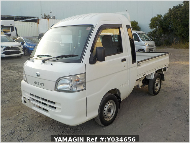 It is a picture of the white daihatsu hijet jumbo in 2009,Sub Photo 1 Stock No.Y034656