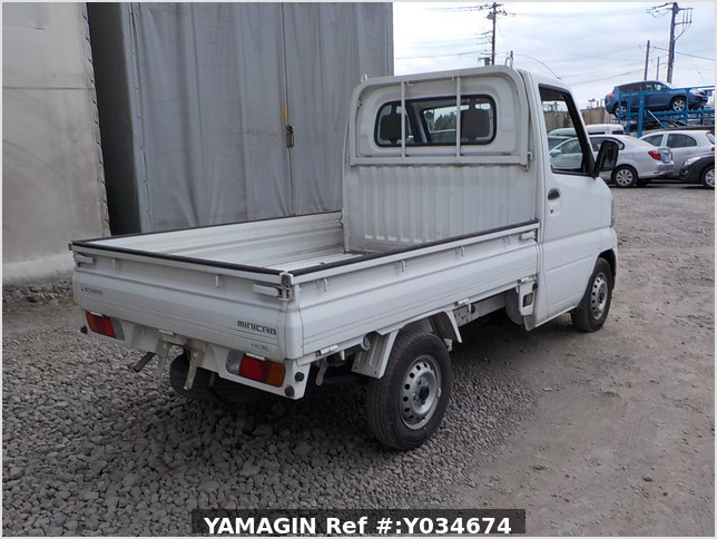 It is a picture of the white mitsubishi minicab truck in 2001,Sub Photo 2 Stock No.Y034674