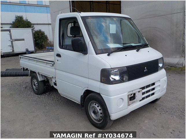It is a picture of the white mitsubishi minicab truck in 2001,Sub Photo 0 Stock No.Y034674