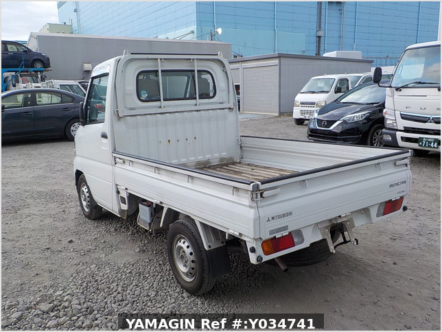 It is a picture of the white mitsubishi minicab  truck in 2000,Sub Photo 3 Stock No.Y034741