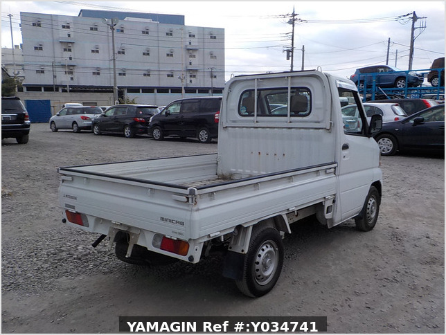 It is a picture of the white mitsubishi minicab  truck in 2000,Sub Photo 2 Stock No.Y034741