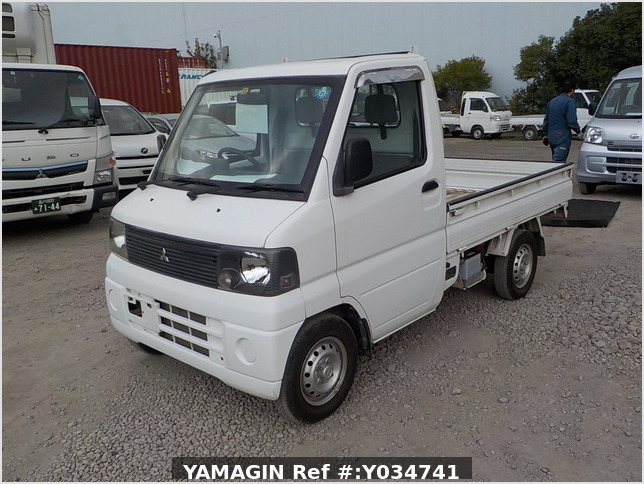 It is a picture of the white mitsubishi minicab  truck in 2000,Sub Photo 1 Stock No.Y034741