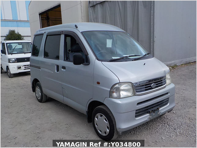 It is a picture of the silver daihatsu hijet passenger van in 2002,Sub Photo 0 Stock No.Y034800