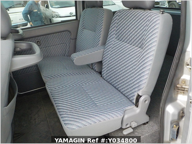 It is a picture of the silver daihatsu hijet passenger van in 2002,Sub Photo 15 Stock No.Y034800