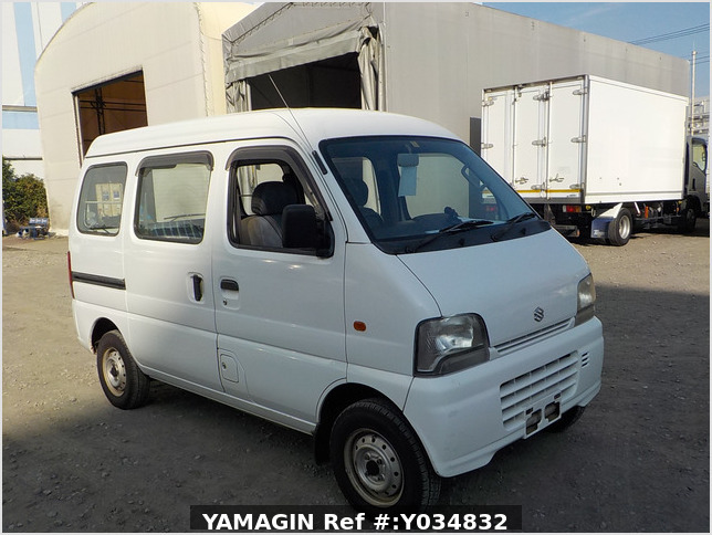 It is a picture of the white suzuki every passenger van in 2005,Sub Photo 0 Stock No.Y034832