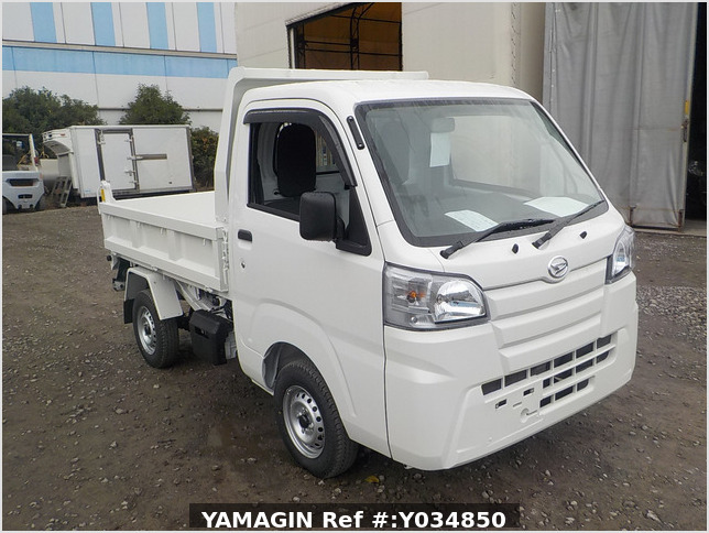 It is a picture of the white daihatsu hijet dump in 2020,Sub Photo 1 Stock No.Y034850