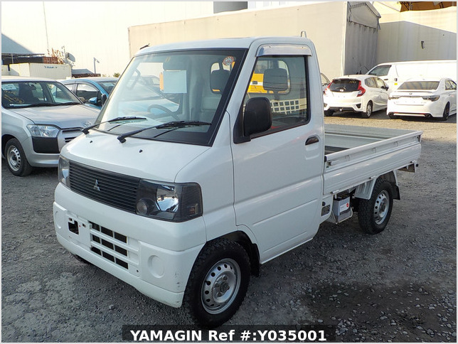 It is a picture of the white mitsubishi minicab  truck in 2001,Sub Photo 2 Stock No.Y035001