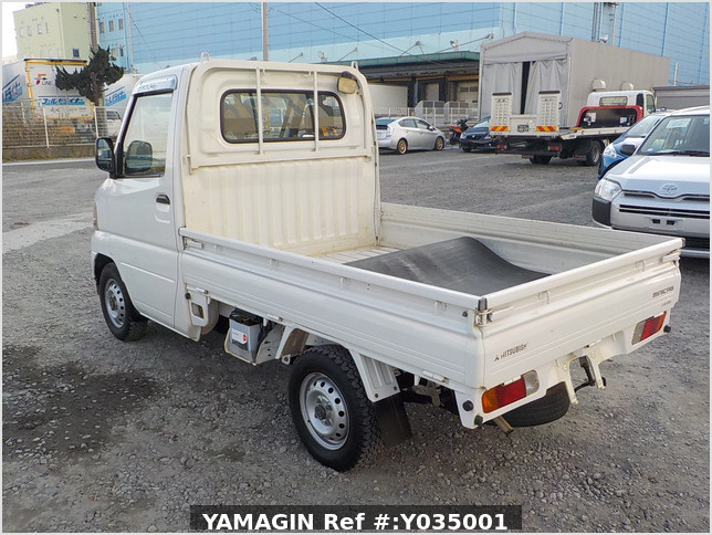It is a picture of the white mitsubishi minicab  truck in 2001,Sub Photo 4 Stock No.Y035001