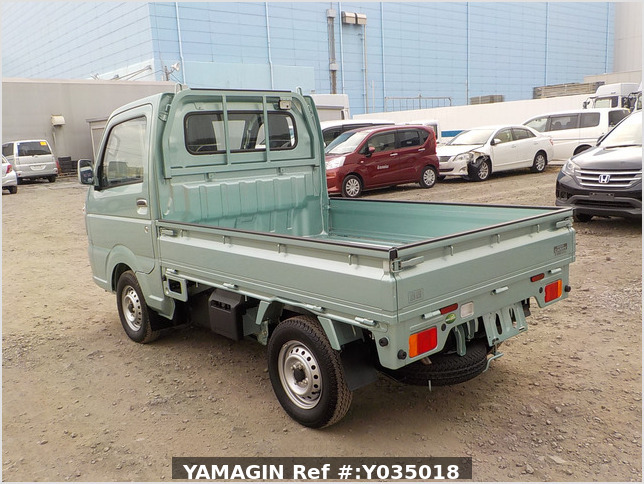 It is a picture of the green suzuki carry truck in 2019,Sub Photo 3 Stock No.Y035018
