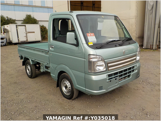 It is a picture of the green suzuki carry truck in 2019,Sub Photo 0 Stock No.Y035018