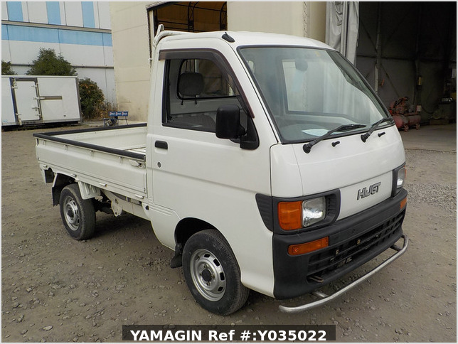 It is a picture of the white daihatsu hijet truck in 1998,Sub Photo 0 Stock No.Y035022