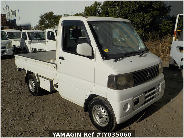It is a picture of the white mitsubishi minicab  truck in 2002,Sub Photo 0 Stock No.Y035060